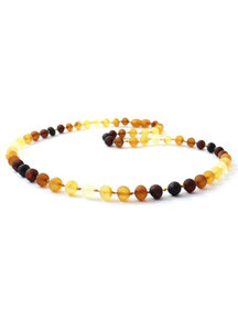 Amber Amber Ladies Necklace 45cm - rainbow raw