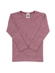 Cosilana Kids Longsleeve Wool/Silk/Cotton - burgundy