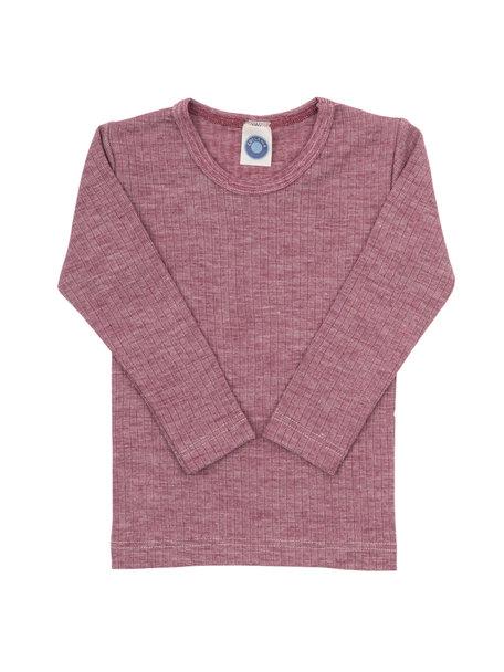 Cosilana Kinder shirt van wol/zijde/katoen - wijnrood