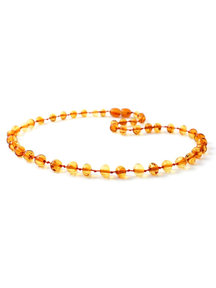 Amber Amber Baby Necklace  32cm - dark honey