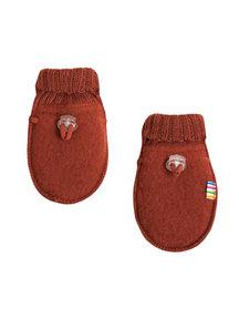 Joha Wool Fleece Mittens - maroon (Limited Edition)