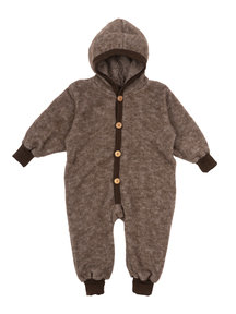 Cosilana Wool Fleece Overall - brown