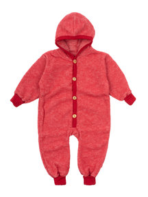 Cosilana Wool Fleece Overall - red
