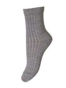 MP Denmark Wollen rib sokken - grijs