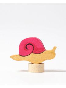 Grimm's Decorative Figure  - pink snail