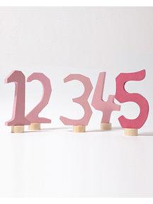 Grimm's Decorative Figure - numbers 1-5 pink