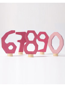Grimm's Decorative Figure - numbers 6 - 9  and 0 pink