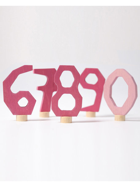 Grimm's Steker - cijfers 6 t/m 9 en 0 roze