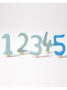 Grimm's Steker - cijfer 1 t/m 5 blauw