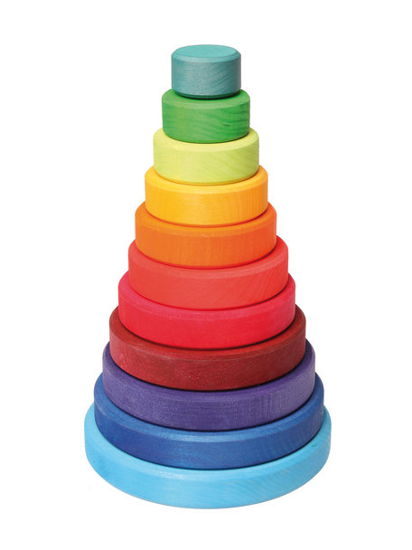 Grimm's stacking tower - rainbow