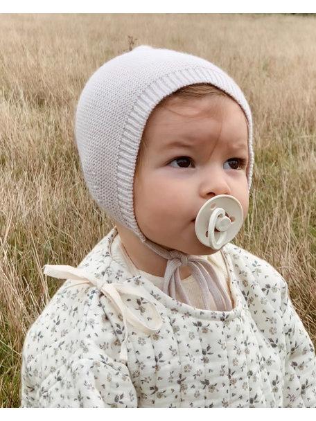 Hvid Merino Wool Bonnet - off white