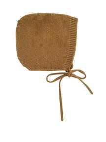 Hvid Merino Wool Bonnet - mustard