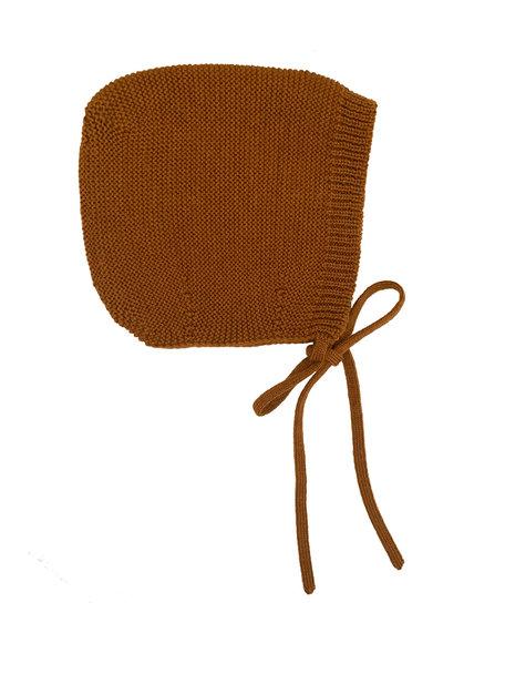 Hvid Merino Wool Bonnet - rust