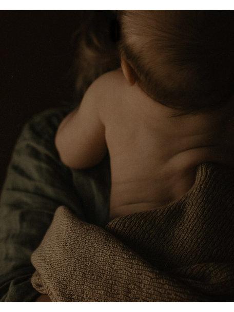 Hvid Baby deken van wol Dora - sand