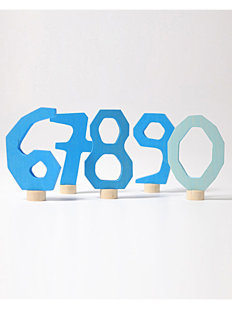 Grimm's Decorative Figure - numbers 6 - 9  and 0 blue