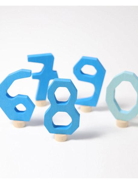 Grimm's Steker - cijfers 6 t/m 9 en 0 blauw