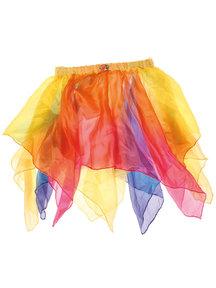 Grimm's Rokje van zijde - geel/regenboog