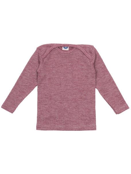 Cosilana Shirt van wol/zijde/katoen - wijnrood