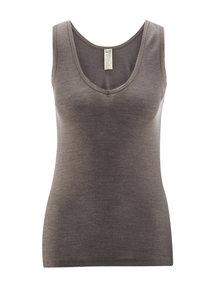 Living Crafts Sleeveless top women of wool / silk - grey