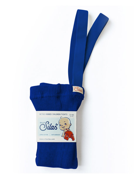 Silly Silas Maillot met bretels van katoen - royal blue
