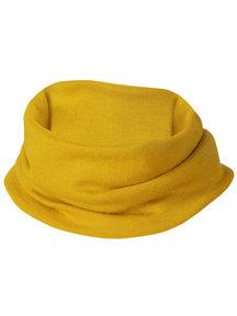 Engel Natur Wool/Silk Loop Scarf Fine Rib - Saffron