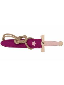 VAH Houten speelgoed dolk - roze