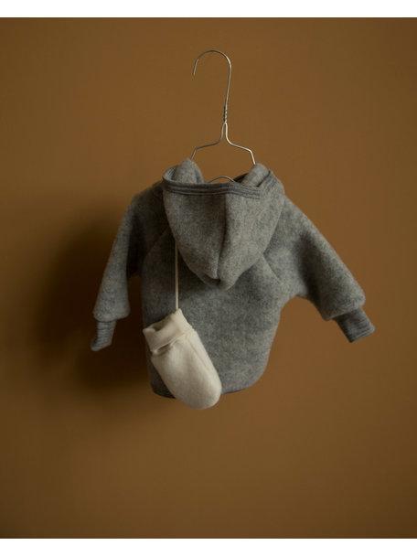 Engel Natur Jasje van wol-fleece - grijs