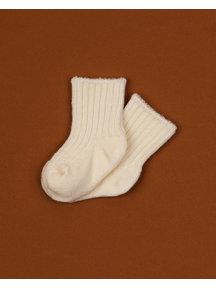 Joha Dikke wollen sokjes - wit