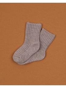 Joha merino wool socks -  sesame
