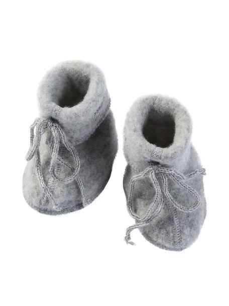 Engel Natur Slofjes van wol fleece - grijs