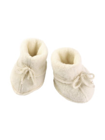 Engel Natur Baby wool fleece booties - natural