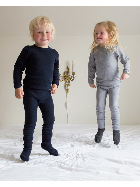 Joha Kinder longsleeve van wol - grijs