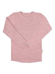Joha Kinder longsleeve van wol - oud roze