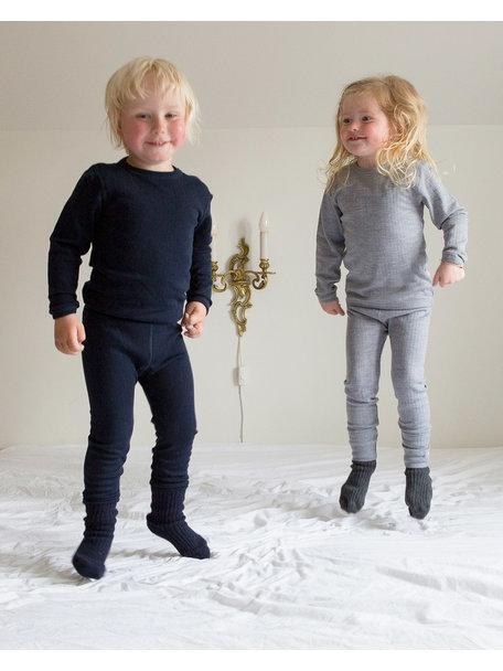 Joha Kinder longsleeve van wol - donkerblauw