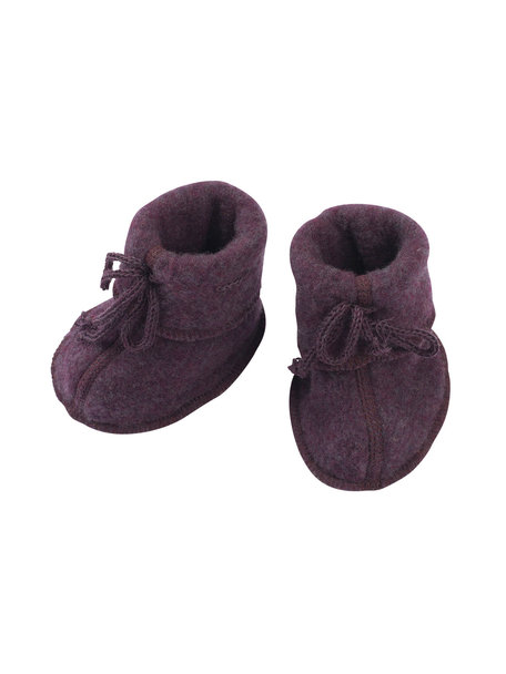 Engel Natur Baby wool fleece booties - lilac