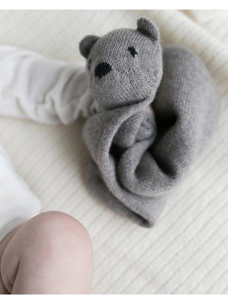 Hvid Teddy Tokki - grey melange