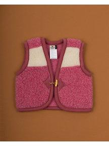 Alwero Kinder hesje van wol pluche - naturel/roze