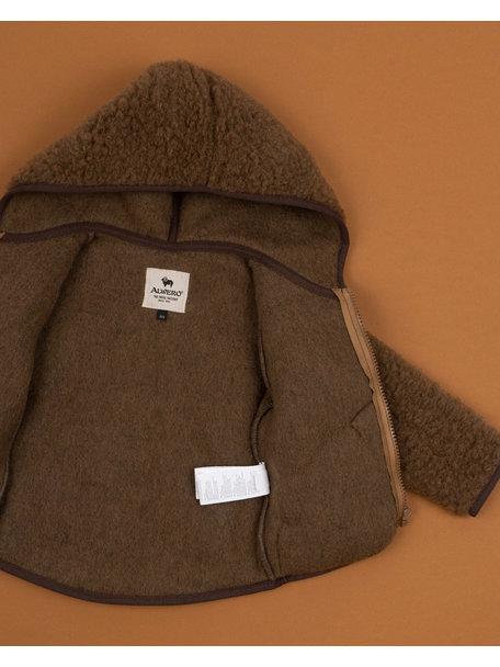 Alwero Jas van teddy pluche - bruin