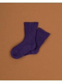 Joha Dikke wollen sokjes - paars
