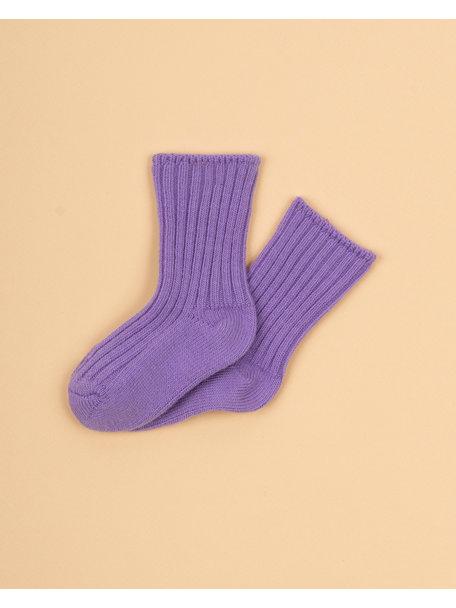 Joha Dikke wollen sokjes - lila