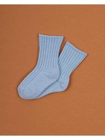 Joha Dikke wollen sokjes - lichtblauw