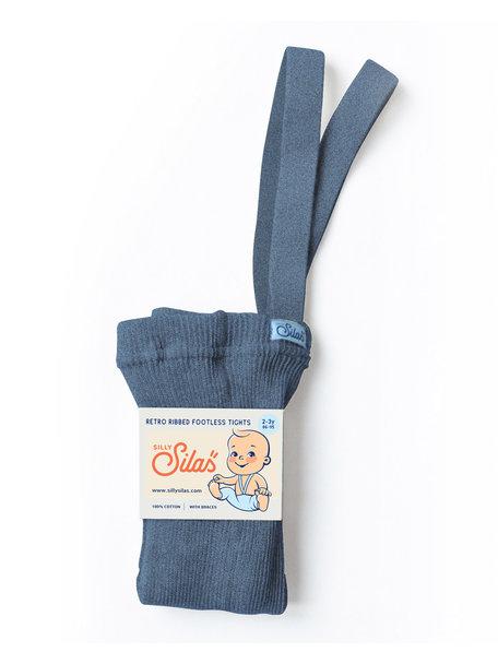 Silly Silas Maillot met bretels zonder voetjes - steel blue