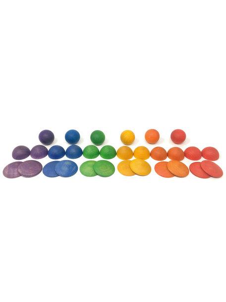 Grapat Ronden vormen - regenboog