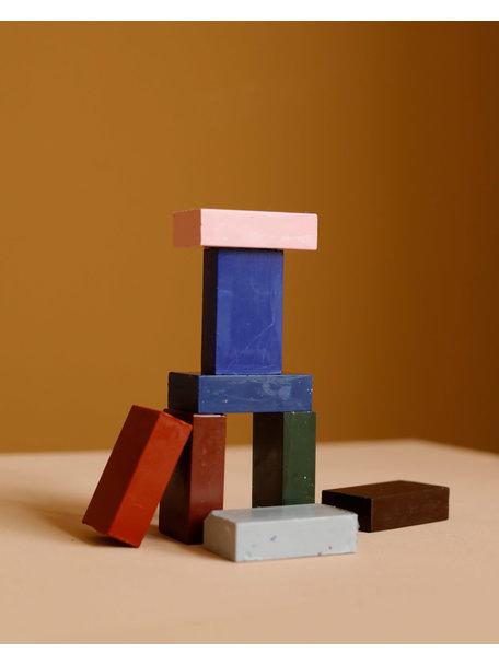 Stockmar Bijenwas krijtblokjes 8 stuks - aanvullende kleuren