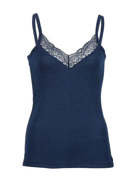 Engel Natur Dames hemd met spaghetti bandjes - donkerblauw
