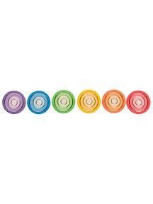 Grapat Houten nest ringen - gekleurd