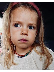 Amber Baby ketting 32cm met edelstenen gemstones per 3