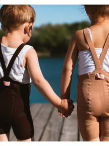 Silly Silas Maillot met bretels en korte pijpjes - chocolate brown