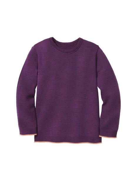 Disana Kindertrui van merino wol - paars/roze