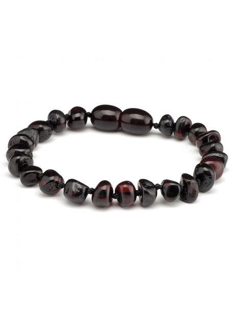 Amber Barnsteen kinder armband 16,5cm - cherry